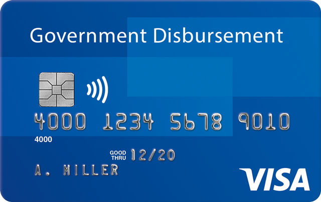 Tarjetas Visa Government Disbursement